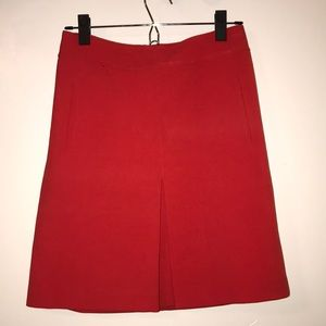 Red Ann Taylor loft skirt with pockets 2P